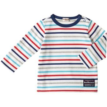 ミキハウス 【アウトレット】ボーダー長袖Tシャツ 赤×紺