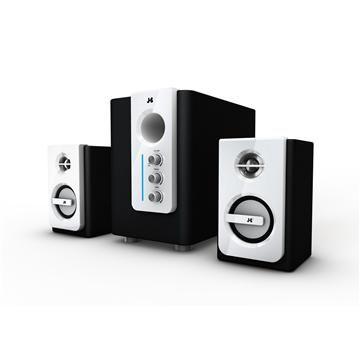 JS淇譽 天籟爵士-全木質三件式多媒體喇叭(白)(JY3060)