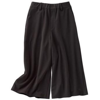 【レディース】 クロプド丈カットソーガウチョ - セシール ■カラー:ブラック ■サイズ:3L,L,M,S