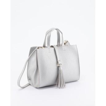 CURI BISUCI タッセルハンドバッグ○3040 Silver カバン・バッグ