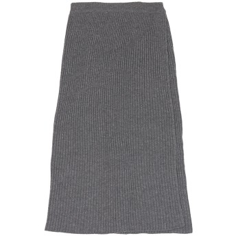 ユアーズ ur's ラップロングニットスカート (杢チャコール)