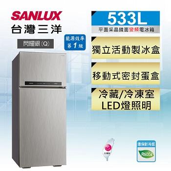 台灣三洋 533公升雙門變頻冰箱(SR-C533BV1A)