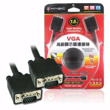 MAGIC VGA 15pin公對15pin公高級顯示器連接線-1.8M(CBH-VGAH-018MM)