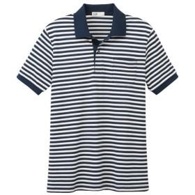 メンズ 【在庫限り】S.Cafe 半袖ボーダーポロシャツ(細ボーダー)
