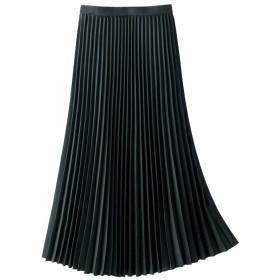 GeeRA ハンサムレディーにクラスアップ!スウェード調プリーツスカート ブラック ウエスト61cm レディース 5,000円(税抜)以上購入で送料無料 フレアスカート 夏 レディースファッション アパレル 通販 大きいサイズ コーデ 安い おしゃれ お洒落 20代 30代 40代 50代 女性 スカート