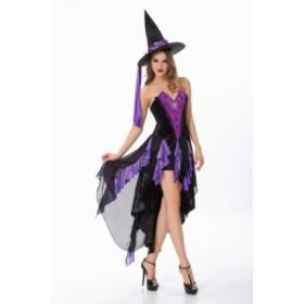 送料無料 ハロウィン コスチューム コスプレ 仮装 レディース ドレス 巫女 巫 魔女 仮装