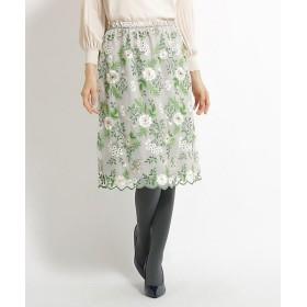 【SALE(三越)】<スーナウーナ/SUNAUNA> 花柄刺繍チュールスカート(2001543546) ベージュ【三越・伊勢丹/公式】