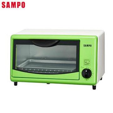 聲寶8L電烤箱-粉綠(KZ-SL08)