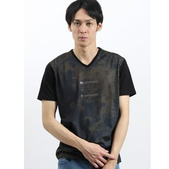 【semantic design:トップス】マジックトーン/MAGIC TONE グラフィックVネック半袖Tシャツ