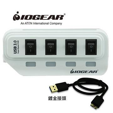 IOGEAR節能開關4埠HUB集線器-白(GUH314W5)