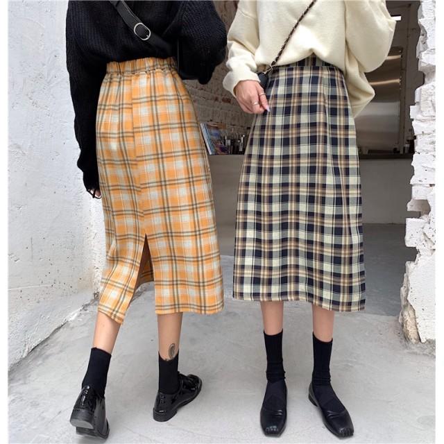 韓国のファッション新作 ★ 高品質· 無料送料/ ハイウエストスカート