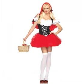 年末先行セール 5日間限定 送料無料 ハロウィン コスチューム コスプレ 仮装 レディース 赤ずきん風 ダンス衣装 学園祭