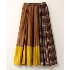 マドラスチェック切替消しプリーツスカート【INCEDE】 (大きいサイズレディース)スカート, plus size, Skirts, 裙子