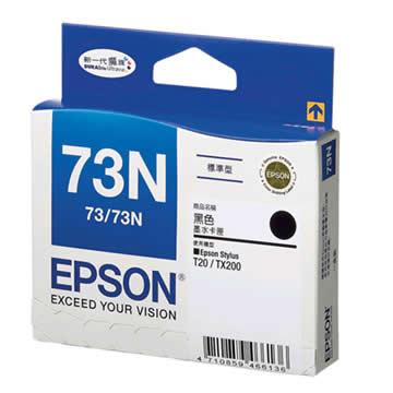 愛普生EPSON 73N 黑色墨水匣(T105150)