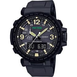CASIO PRO TREK 數字大刻度雙顯戶外運動登山錶-IP黑框(PRG-600Y-1D)