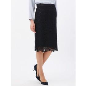 【THE SUIT COMPANY:スカート】【Littlechic】フラワーコードレースタイトスカート