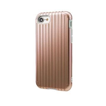 【iPhone 8 / 7】GRAMAS Rib行李箱手機殼 - 玫瑰金(CHC436RG)