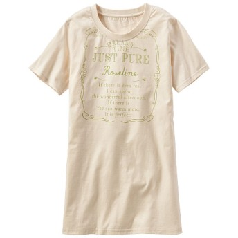 50%OFF【レディース】 プリントロングTシャツ - セシール ■カラー:アイボリー ■サイズ:M,S