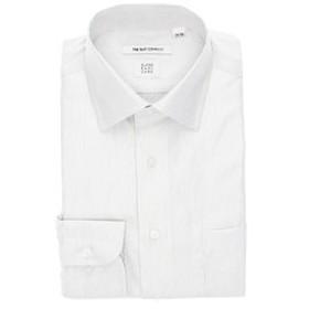 【THE SUIT COMPANY:トップス】【3BLOCK SHIRT】ワイドカラードレスシャツ ピンストライプ 〔EC・FIT〕