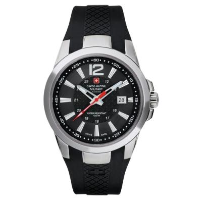 阿爾卑斯軍錶S.A.M 武力全開系列-武力黑/橡膠錶帶/43mm