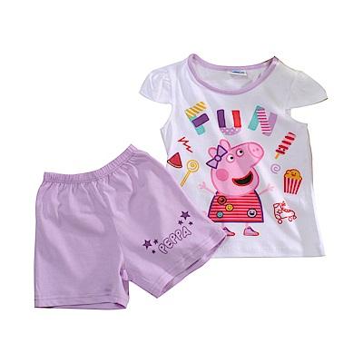 魔法Baby粉紅豬佩佩純棉短袖套裝 k51147