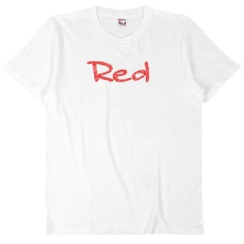words color series Red T-shirt / white