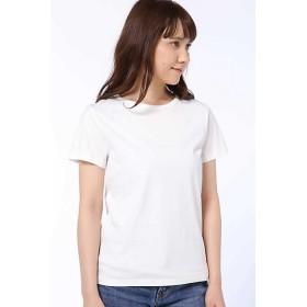 HUMAN WOMAN ヒューマンウーマン 50/2新きょう綿 半袖Tシャツ