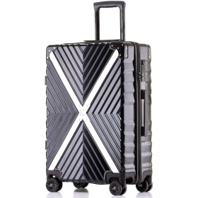 Kroeus(クロース)スーツケース キャリーケース ファスナータイプ TSAロック搭載 4輪ダブルキャスター S型機内持込可 超軽量 日本語取扱説明書 1年間保証付き 24