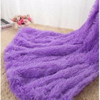ソフト毛皮 スローブランケットソファロングシャギー 130160 cm 白 グレー ピンク 紫【領収発行可】