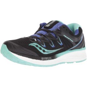 Saucony Women's Triumph Iso 4 Black/Aqua Violet Ankle-High Mesh Running Shoe - 6.5M