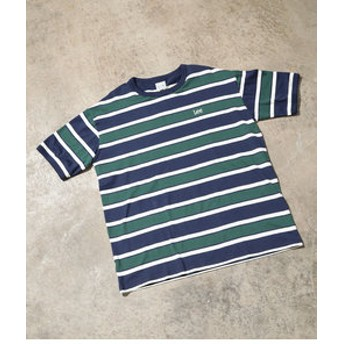 【ViS:トップス】【一部店舗限定】【Lee】ボーダークルーネックTシャツ