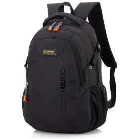 YIKETING トラベルバックパックバックパックキャンバストラベルバッグバックパックファッション、デザイナー学生用バッグラップトップバッグ大容量バックパック (色 : 黒)