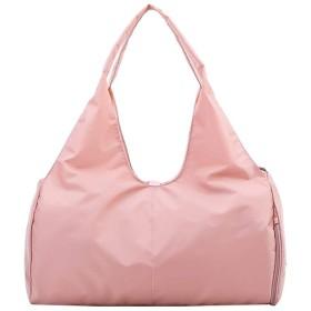 旅行バッグ シューズ収納 ジムバッグ 大容量多機能のポケット アウトドア適用 ユニセックス 軽量 防水 通勤 出張 人気 (ピンク)