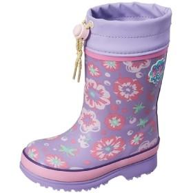 [ムーンスター] 長靴 キッズシューズ レインブーツ ジュニア 女の子 子ども ガールズ ラバーブーツ 2E幅 子供靴 14-19.0cm 女児/MS-WC017R (14.0cm, パープル)