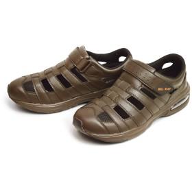 (ベルレイ)BEL-RAY サンダル メンズ スポーツサンダル アウトドア スリッポン 3EEE 幅広 クロッグ スニーカー メッシュ 通気性 カジュアル シューズ アクア 軽量 靴 26cm DARKBRAWN ダークブラウン こげ茶色