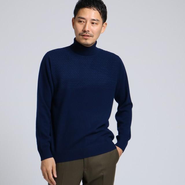 TAKEO KIKUCHI(タケオキクチ:メンズ)/フルカシ タートル ネックニット[ メンズ ニット カシミヤ ]