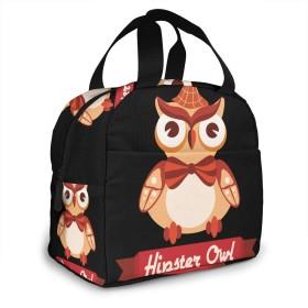 保冷バッグ エコバッグ ランチバッグ 買い物バッグ フクロウ ボウタイ 手提げバッグ おしゃれ 保冷保温
