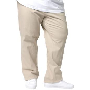 [へインズ] 大きいサイズ メンズ ストレッチ パンツ ツータック チノパン アイボリー 105