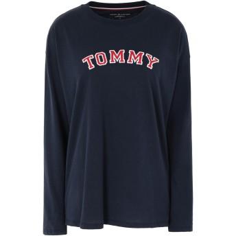 《セール開催中》TOMMY HILFIGER レディース T シャツ ダークブルー XS コットン 52% / ポリエステル 48% CN TEE LS