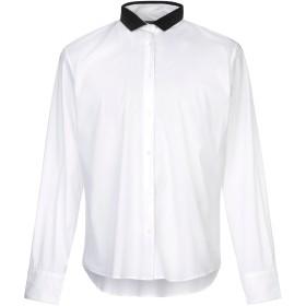 《セール開催中》BOGLIOLI メンズ シャツ ホワイト 48 コットン 60% / ナイロン 35% / ポリウレタン 5%