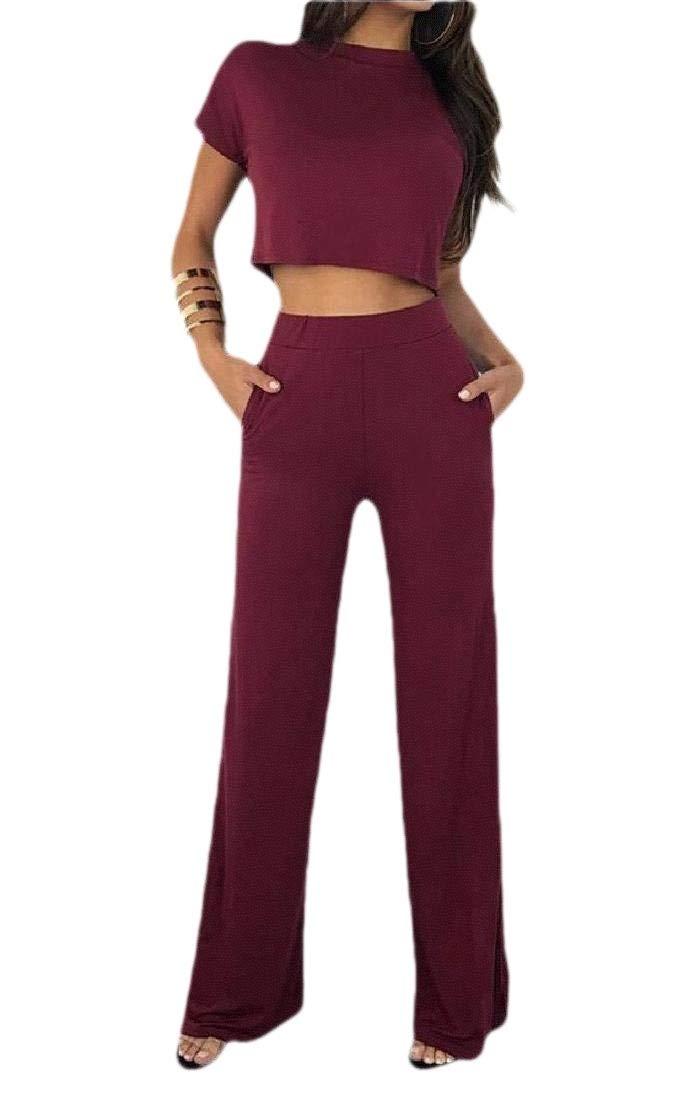 Keaac Womens Jumpsuit Off Shoulder Loose Fit Summer Wide Leg Long Romper