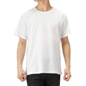 インナーシャツ メンズ 半袖 Tシャツ クルーネック 無地 下着 肌着 吸水 速乾 倍速 ドライTシャツ 半袖Tシャツ MH/03623SS メンズ ホワイト:L