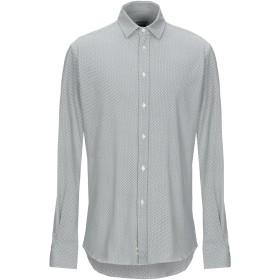 《期間限定セール開催中!》MENGOTTI メンズ シャツ ダークグリーン 40 コットン 90% / ポリウレタン 10%