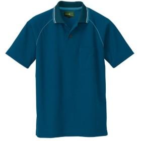(アイトス) AITOZ カラフルユニフォーム・作業服・半袖ポロシャツ (AZ50005) アイアンブルー 3L