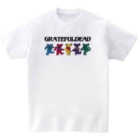 [10色]BANDLINE(バンドライン) GRATEFUL DEAD グレイトフルデッド バンド ロック パンク メタル 半袖Tシャツ ホワイト Lサイズ