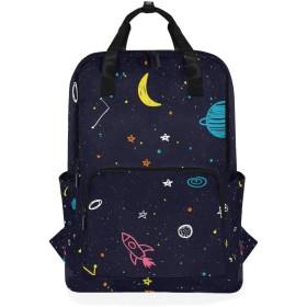 Dark Space Rocket Galaxy のための肩のバックパックの学生の軽量のおむつ袋旅行余暇子供の女の子の男の子
