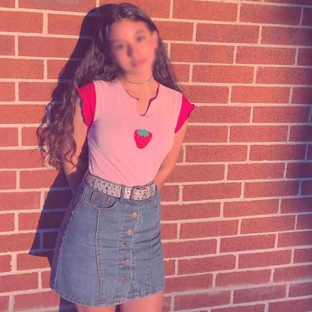 TAALESET 女性の半袖カラーブロッククロップTシャツブラウス夏Tシャツ (色 : ピンク, サイズ : S)
