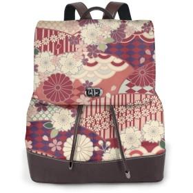 リュックサック レディース 和柄 花柄 バックパック バッグ リュック PUレザー 鞄