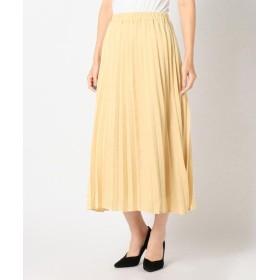 【71%OFF】 ミューズ リファインド クローズ サテンプリーツスカート レディース ベージュ M 【MEW'S REFINED CLOTHES】 【セール開催中】