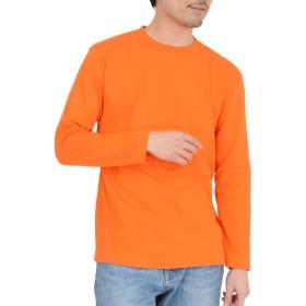 ティーシャツドットエスティー 長袖 tシャツ ロンT 無地 ヘビーウェイト 袖リブなし 5.6oz メンズ オレンジ S